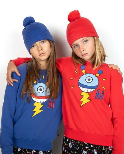 Himbeerrotes Sweatshirt